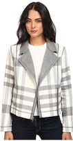 Michael Stars Double-Faced Flannel Plaid Moto Jacket