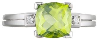Diamond Select Cuts 14K 1.78 Ct. Tw. Diamond & Peridot Ring