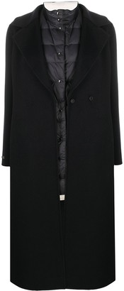 Peserico Layered Belted Wrap Coat