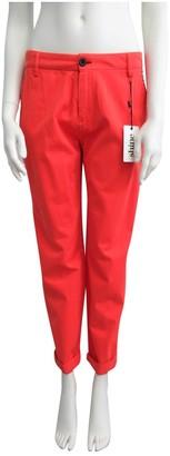 Shine Orange Cotton Trousers for Women