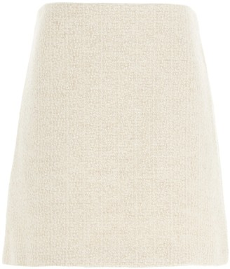 Theory A-Line High Waist Tweed Skirt