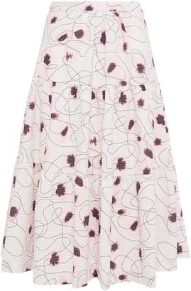 Baum und Pferdgarten Shai Tiered Floral-print Seersucker Skirt
