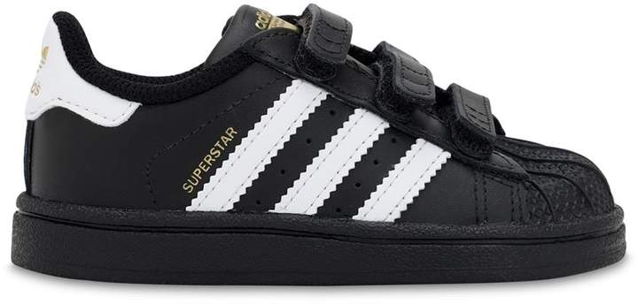detailed look da35c d8d77 Superstar Leather Strap Sneakers