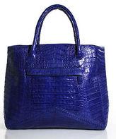 Nancy Gonzalez Blue Crocodile Tote Handbag
