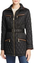Vince Camuto Belted Faux Suede Coat
