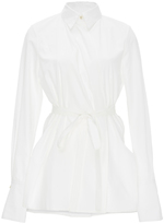Rosetta Getty Cotton Long Sleeved Wrap Shirt