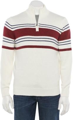 Croft & Barrow Men's Regular-Fit Quarter-Zip Pullover Sweater