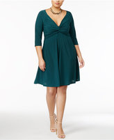 Love Squared Trendy Plus Size Knotted Fit and Flare Dress