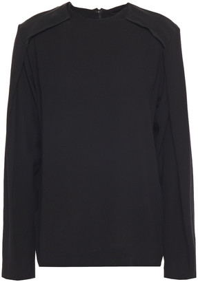 Haider Ackermann Satin-trimmed Crepe Top