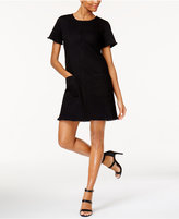 Vince Camuto TWO by Frayed-Trim Shift Dress