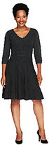 Isaac Mizrahi Live! 3/4 Sleeve Ottoman Sweater Dress