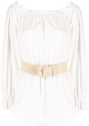 Rebecca Vallance Kenza off-the-shoulder blouse