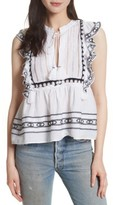 Sea Women's Lace Bib Ruffle Tank