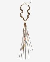 White House Black Market Fringe Drop Necklace
