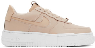 Nike Beige Air Force 1 Pixel Sneakers