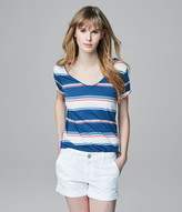 Prince & Fox Striped Montauk V-Neck Tee
