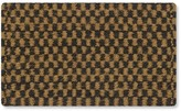 Williams-Sonoma Williams Sonoma Checked Black & Coir Doormat