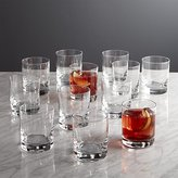 Crate & Barrel Peak Double Old-Fashioned Glasses,Set of 12
