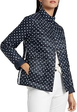 Basler Polka-Dot Reversible Quilted Jacket