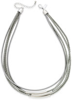 INC International Concepts Gold-Tone Leather and Coil Collar Necklace, Only at Macy's