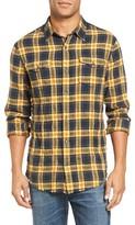 Vince Men's Trim Fit Frayed Plaid Sport Shirt