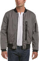 Hudson Knox Exposed Zipper Bomber Jacket