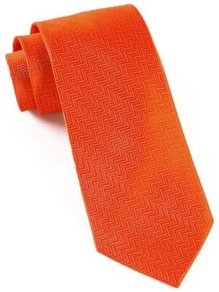 Tie Bar Herringbone Rust Tie