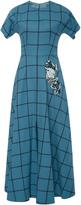 Luisa Beccaria Checkerboard Midi Dress