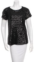 Rachel Zoe Sequined Short Sleeve Top w/ Tags