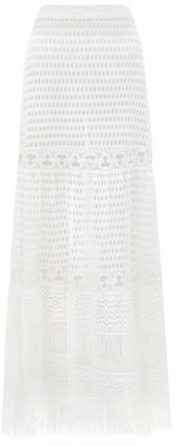 ZEUS + DIONE Ianeira Crochet-cotton Midi Skirt - Womens - White