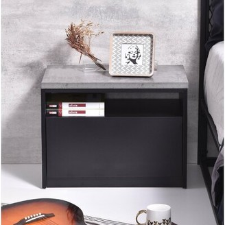 Orren Ellis Hannibal 1 Drawer Nightstand Color: Iron Slate