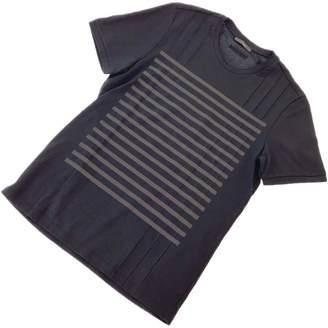 Ermenegildo Zegna Black Cotton T-shirts