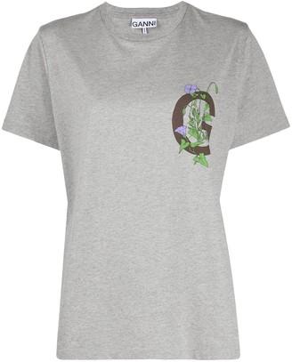 Ganni logo-print T-shirt
