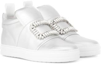 Roger Vivier Sneaky Viv' metallic leather sneakers