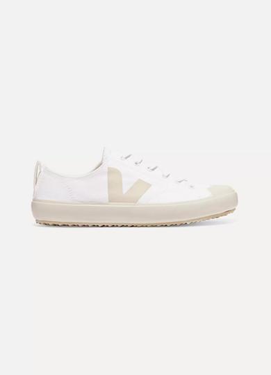 Veja + Net Sustain Nova Organic Cotton-canvas Sneakers - White