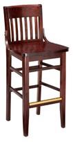 "Regal Beechwood School House Wood Seat Bar & Counter Stool Seat Height: Counter Stool (26"" Seat Height)"