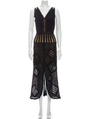 Roland Mouret Linen Long Dress Black