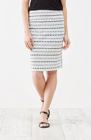 J. Jill Wearever Smooth-Fit Space-Dyed Panel Skirt