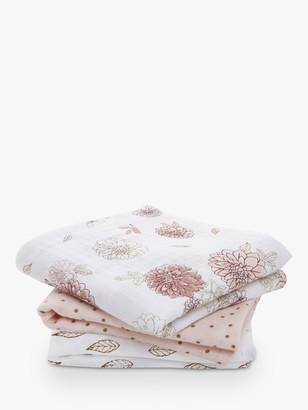 Aden Anais aden + anais Dahlia Muslin Musy Square Cloths, Pack of 3