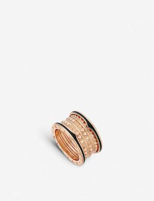 Bvlgari B.zero1 18ct rose-gold and ceramic ring