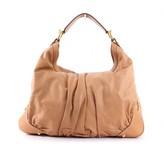 Gucci very good (VG Beige Leather Large Jockey Hobo Bag