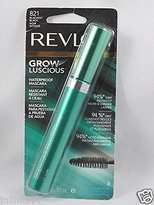 Revlon Grow Luscious Waterproof Mascara 821 est with Bonus Kajal Eyeliner in Matte Charcoal by Revlon