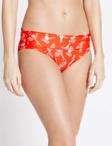 Marks and Spencer Parrot Print Roll Top Hipster Bikini Bottoms
