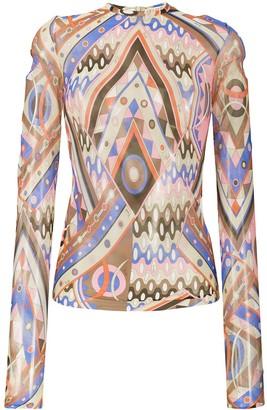 Emilio Pucci V-Vivara print blouse