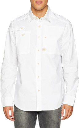 G Star Men's H-A Utility Straight Shirt L/S Casual