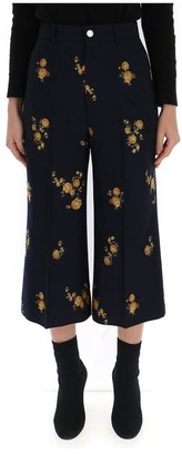 Gucci Floral Cropped Pants