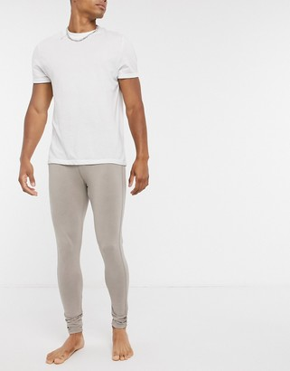 ASOS DESIGN lounge meggings in washed beige