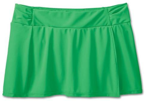 Athleta Sporty Shirred Swim Skirt