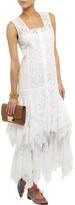 Oscar de la Renta Crochet-paneled cotton-blend maxi dress
