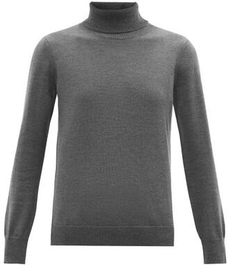 A.P.C. Sandra Roll-neck Merino-wool Sweater - Womens - Grey